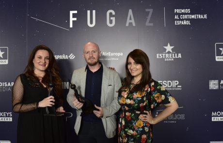 Cristina Martín, David Ambit y María José Martín Premios Fugaz 2019