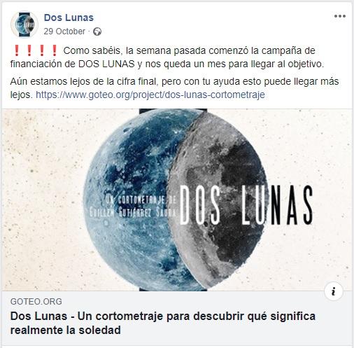 crowdfunding cortometraje dos lunas