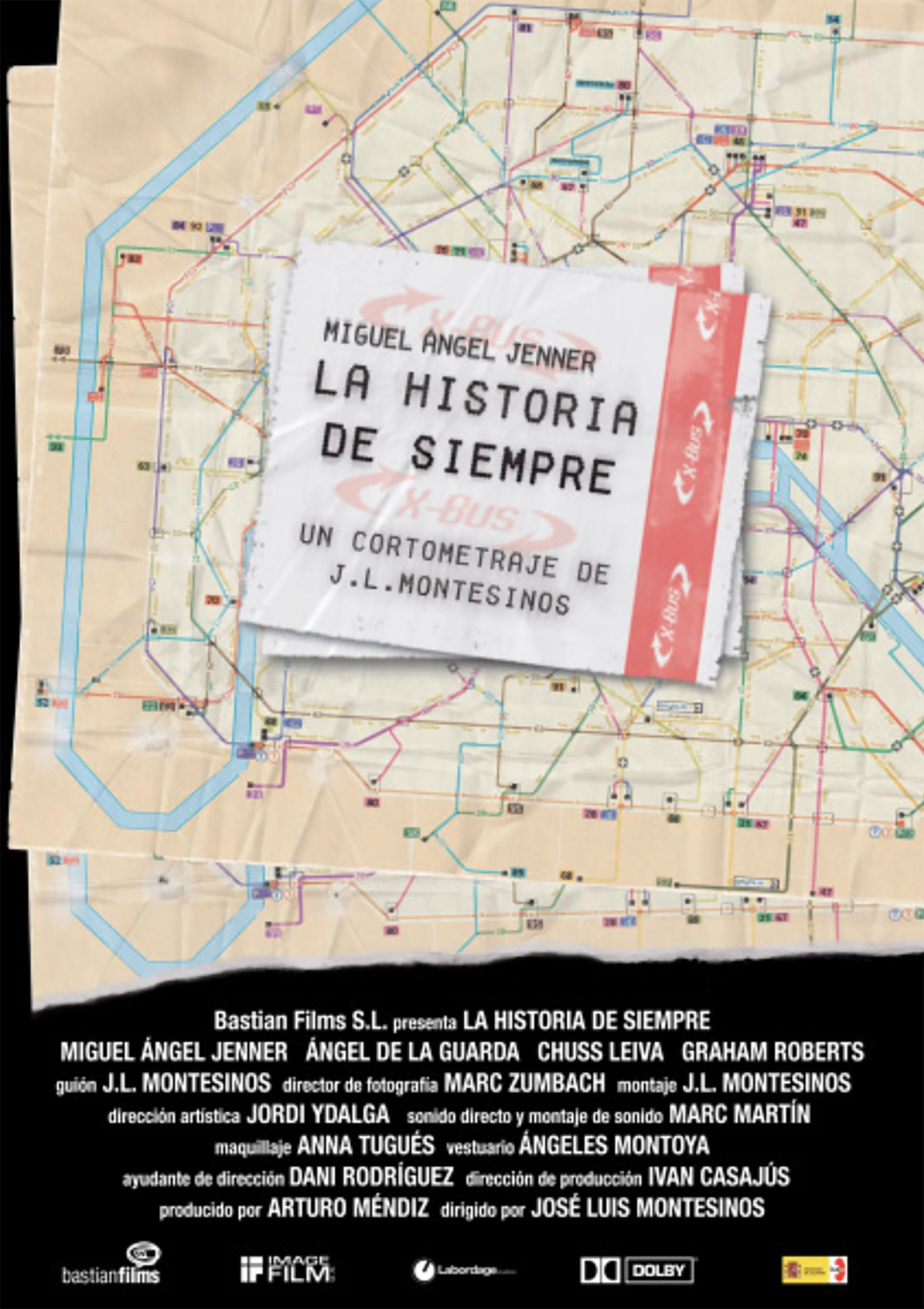 Cartel La historia de siempre, de José Luis Montesinos