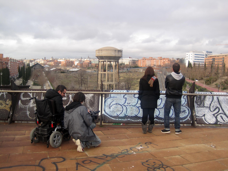 Imagen del rodaje de Los gritones