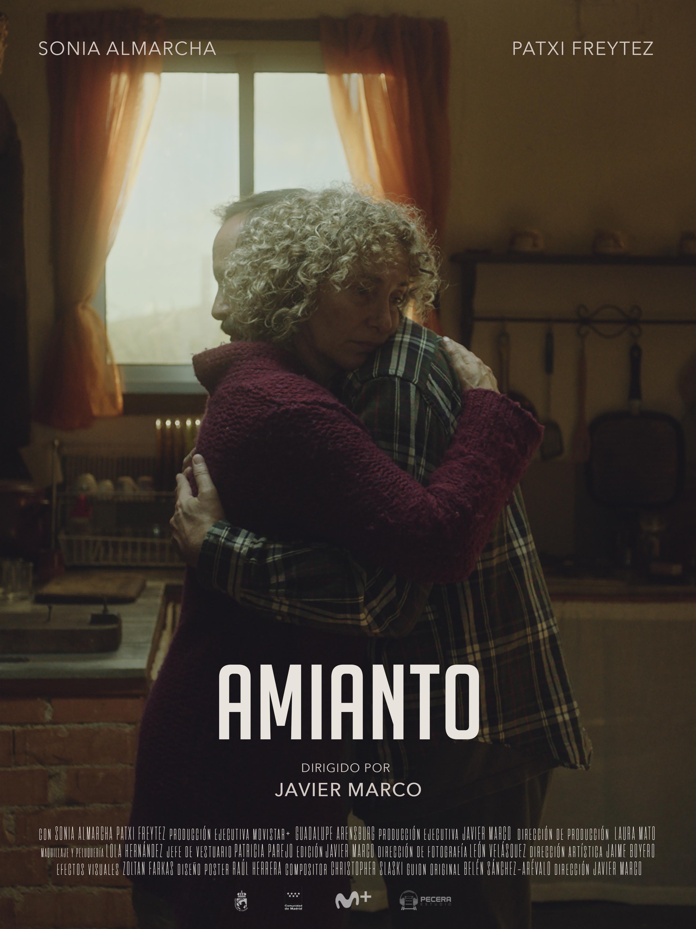 """Cartel de """"Amianto"""""""